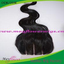 Brazilian silk base 3 part closure body wave 4x4/3.5x4 12-18inch light medium dark brown scalp natural looking