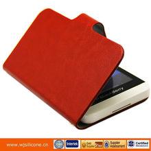 New arrivals flip case for blackberry Z10, PU+Microfiber for blackberry Z10 case