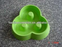 Slow feed fancy plastic dog bowls