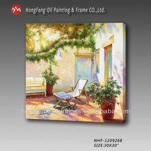 Handmade garden scenery painting