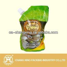 Food grade packaging type plastic bags for pasta sauce packaging