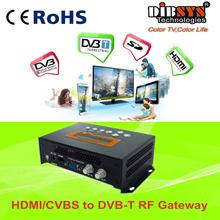 Family hd rf modulator hdmi with Composite,YPbPR in,DVB-T up-converter modulator