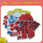 Vivid and colorful handmade soft plastic fridge magnet souvenir