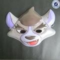nova moda personalizada animais de plástico partido máscara facial