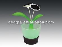 New Design Fancy Promotional Gifts Solar Plant Night Light with Light Sensor