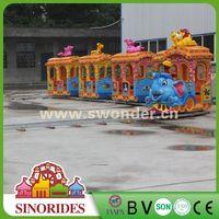 Beautiful electric track train ridesamusement park games tourist train,amusement park games tourist train