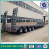 2014 new Hydraulic 4 axles lowbed truck trailer,CIMC Low Bed Semi Trailer