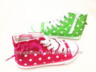 2013 kid fahion casual lace-up/zipper canvas ankle shoes