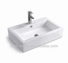 S1093 Nice design rectangular bathroom ceramic art sink