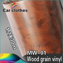 High Quality 1.2x30m Adhesive Vinyl Decal Rolls Wood Grain Vinyl Car Sticker Design