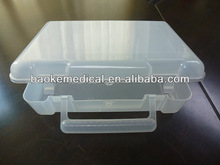 White clear first aid kit box empty or full medical box as your car medical set