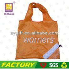 Foldable recycle promotional nylon foldable shopping bag