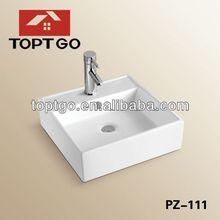 Modern Vanity Basin On Top Sanitary Square Basin Hotel Bathroom Square Basin PZ-111