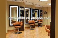 Modern design decoration hair salon mirrors with LED lights