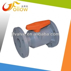 gear operated ball valve/pvc double union ball valve