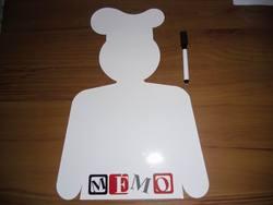 Custom shape with pen marker flexible fridge magnetic whiteboard