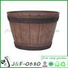 Outdoor garden decorative whiskey wood barrel planter