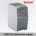 120W 15V Din rail series switching mode ac dc power supply 8a 15v switching power supply