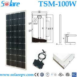 high efficiency Mono best price power 100w solar panel