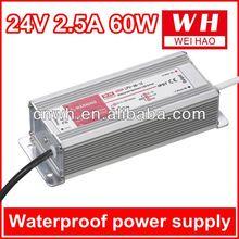 2014 china waterproof 60w 24v waterproof dimming led driver