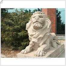 Garden stone lion sculpture/statue for gate decoration.