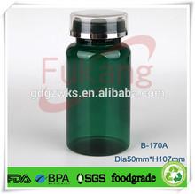 170cc dark green PET plastic liquid medicine bottle factory bulk price,plastic vitamins capsules bottle manufacturing plant