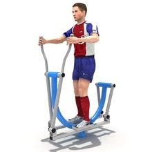 Outdoor commercial fitness gym equipment elliptical cross trainer for elderly