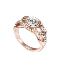 2014 new design fashion 18K gold plated ring
