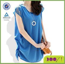 Blue hot sale popular fashion design high quality t-shirt manufacturer