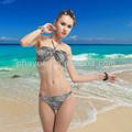 Venda quente 2014 transparente swimwear do biquini, sexy biquíni com estampa de leopardo muito sexy