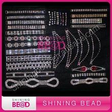 2015 high quality rhinestone connector for bikini,headband connector