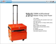 2014 1500w Multifuctional Mobile Trolley Solar Power