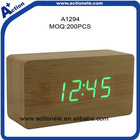 Digital Desk Clock and Wooden Alarm Clock