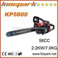 profesional de china suministro de herramientas de jardinería kingpark 58cc motosierra de la gasolina