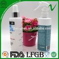 16 oz de polietileno de alta densidad claro líquido de lavado botella plástica del aerosol en fábrica de Shenzhen