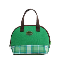 The green plaid portable insulation bag lunch bag pack ice bag heat insulation board box bag