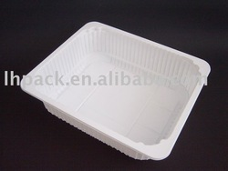 White Plastic Food Tray