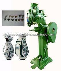 Semi-automatic golf bag riveting machine