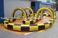 Inflatable track race, inflatable car track . go karts,inflatable sport games