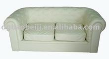 luxury leather 2 seat white sofa/ two seat sofa design