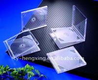 10.4mm Clear Single PS transparent pretty CD jewel Case