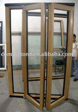 Wood inside alu outside Folding door