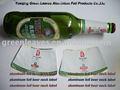 papel de aluminio de la botella de cerveza cuello etiquetas