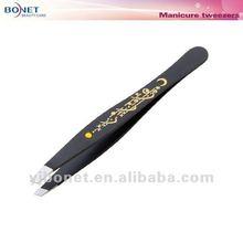 G266 Glod Laser Printing Black Tweezers