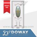 Design clássico oval de aço porta de vidro popular( branco) de aço porta de vidro