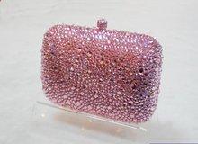 Customzied crystal handbag clutch 100% handcraft G20089