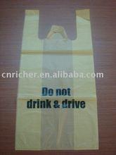 HDPE t-shirt shopping carrier bag/shopping tote