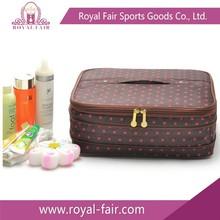 Pink 600D polyester make up bag