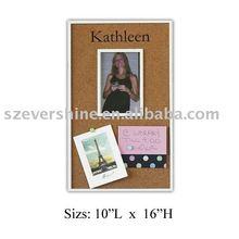 framed message pin board