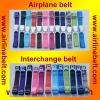 Interchangeable airplane buckle casual belts, men casual belts, casual belts